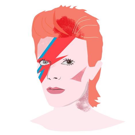 David Bowie (Illustration: Swantje Hinrichsen)