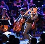 Beim Schaffhauser Jazzfestival: Andreas Schaerer und das Lucerne Festival Academy Orchestra Alumni