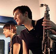 Beim Deutschen Jazzfestival in FRankfurt: Silke Eberhard