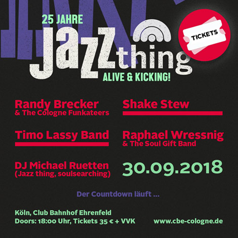25 Jahre Jazz thing – Alive & Kicking!