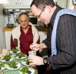 David Friedman und Peter Weniger bei Heringsrogen und Rucola