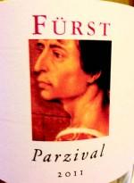 """Rudolf Fürst """"Parzival"""" 2011 (Etikett)"""
