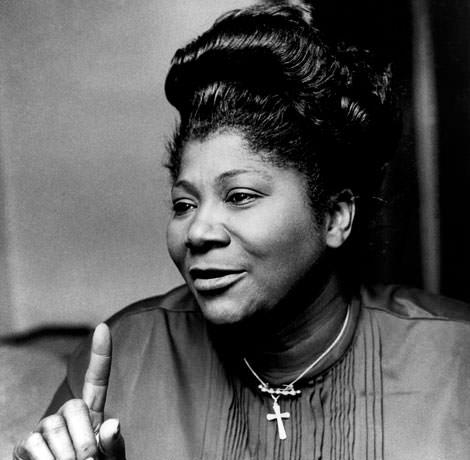 Sängerin Mahalia Jackson