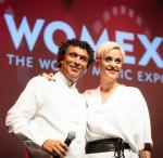 Bei der Preisverleihung auf der WOMEX: Mário Lúcio Sousa & Mariza